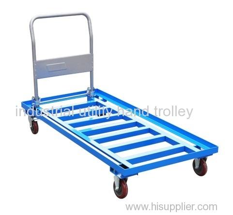 Folding handle ladder steel platform hand trolley on wheels