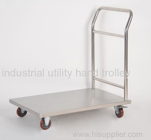 Stainless steel material transport hand cart and trolleys
