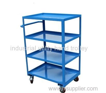Heavy duty material steel shelf cart