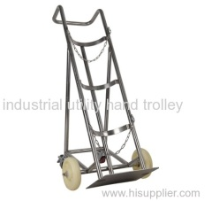 Four wheels portable cylinder trolley carts with safety fixed chain