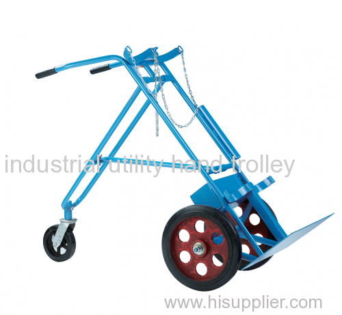 Double gas cylinder carts with three wheels