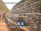 Durable Gabion Retaining Wall Hexagonal Wire Mesh Galvanized Wire Stone Boxes