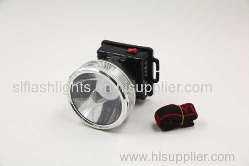 1pc Plastic LED Head Dry Battery Flashlight