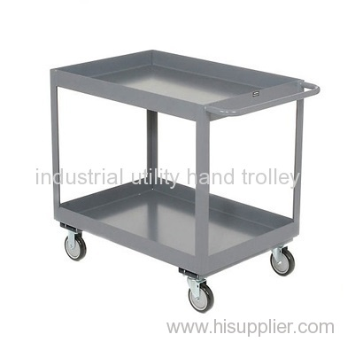Multi-functional material moving double layers utility hand trolley