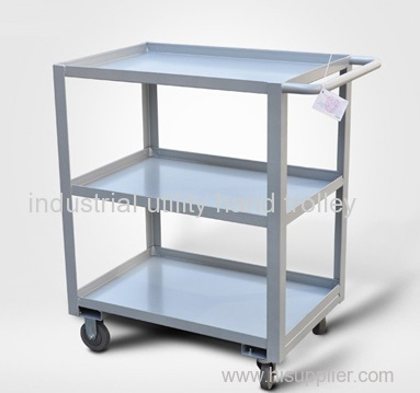 3-layers low handle mobile material ttransport trolley