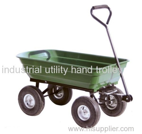 Four pneumatic wheels garden cart