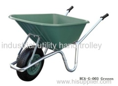 Wheelbarrow garden cart with steel frame and Polypropylene tray