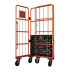 Folding Logistics transport hand truck roll containers
