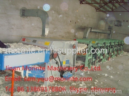 Cotton waste recycling machine for ring spinning