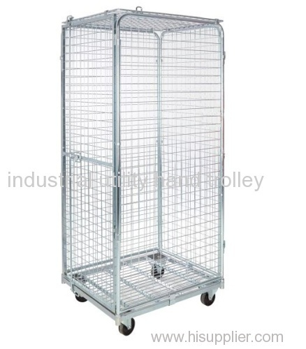 foding secure demountable ligistics transport roll container