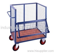 Open top container trucks and delivery cages