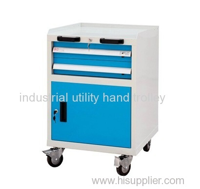 Light mobile tool workshop trolleys with drawer on wheels