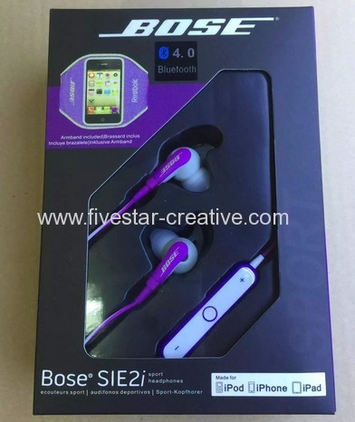 Bose SIE2i Sport Bluetooth Earbud Headphones Purple