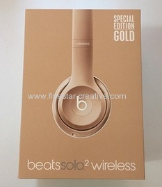 2015 New Beats Solo2 Wireless Over-Ear Headphones with Bluetooth Special Edition Gold
