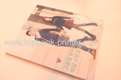 High-grade Korean gold stamped cover apparel catalogue softcover book