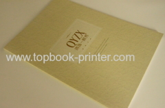 high glossy paper debossed & embossed cover clothes brochure softback book