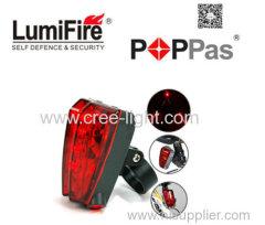 5LED+2Laser 5 flash mode Cycling Safety Bicycle lamps waterproof Bike Laser Tail Light Warning Lamp Flashing