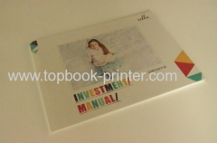 UV coated die-cut cover children garment landscape softcover book for advertising