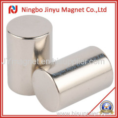 Strong Column shape magnet with nickel coat