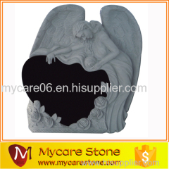 Angel Draped Over Heart Tombstone