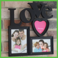 3 photo LOVE Wall Hanging Photo Frame