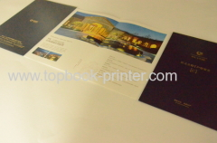 gold stamped hard cover tri-fold booklet