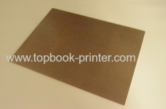Hot stamped cover saddle stitched certificate introduction brochure