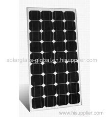 50w anti-reflective tempered mono solar panel
