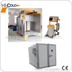 powder coating line for coating wheels and cycle frames