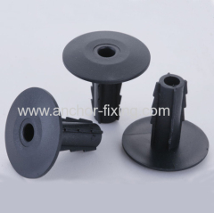 Coaxial Cable Feedthrough wall bushing Cat 5 in black 5.2 mm