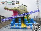 Commercial Crocodile Inflatable Slide , Inflatable Water Slide For Rental