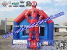 Outdoor Spiderman Inflatable Bouncy Castle Jumper , PVC Jumping Castle For Kids