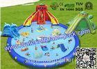 Customized Outdoor Inflatable Water Park for Adults , Inflatable Pool Water Slides