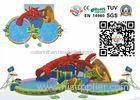 Colorful Amazing Inflatable Water Park Rental With Double Slides
