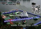 Cool Inflatable Floating Water Park for Lake , Promotion Family Resort With Waterpark