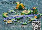 Inflatable Aqua Park For Adults And Kids , Amusement Water Park CE / EN