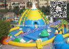 Funny Kids Inflatable Water Park , Inflatable Water Games With Repair Kits
