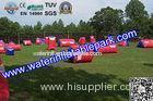 Commercial Inflatable Paintball Bunker 0.9mm PVC , Durable Paintball Air Bunker
