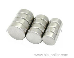 Customized Strong Neodymium Disc Magnet With Nickel Coating