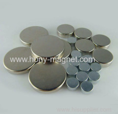 Zn Coated Sintered Rare Earth Neodymium Disc Magnet