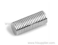 N42 Ni Zn Coated Neodymium Disc Magnet