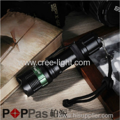 Brighter Rechargeable 150 Lumens Zoom Water-resistant Q5 Led Torch Flashlight