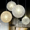 The iron ball crystal hanging lamp LED crystal lamp Led Art Chandelier pendant lamp