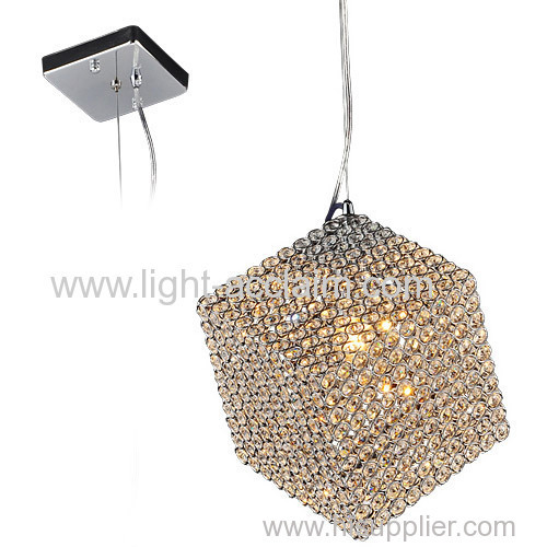 Three-dimensional square head single crystal chandelier lamp for sale