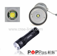 Using CREE XMLT6 flashlight high power led torch light