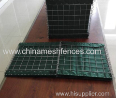 MiL Standard Hesco Bastion Gabion Barrier with heavy geotextile