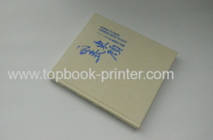 fabric textured cover hardback book