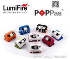 Popular 1w led bulb 1 super bright white LED 2 Red LEDs headlamp led headlamp