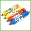 Pencil shape Soft PVC Pencil Case