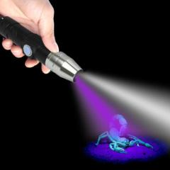 New Design Mini 500MAH USB Rechargeable Blacklight 365nm Import UV LED Flashlight POPPAS- C92UV